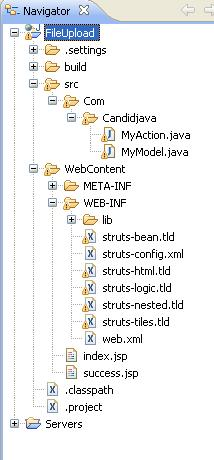 struts 1x File Uploading with example program In Eclipse