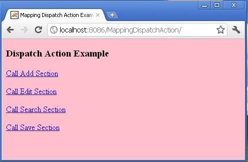 struts 1x Mapping Dispatch Action with example program In Eclipse on