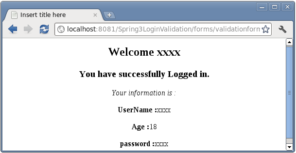 Spring MVC form Validation with
